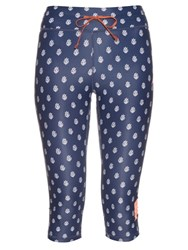 The Upside Ditsy Print Cropped Performance Leggings Blue Multi