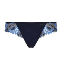 Simone Perele Wish Tanga Briefs Female Blue