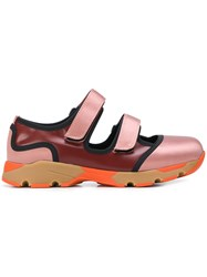 Marni Double Touch Strap Sneakers Pink And Purple