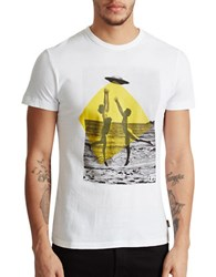 French Connection Graphic Cotton Tee White