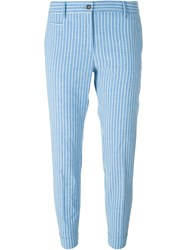 Alberto Biani Striped Trousers Blue