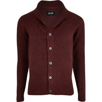 Only And Sons River Island Mens Red Chunky Knit Cardigan