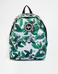 Hype Leaves Backpack White