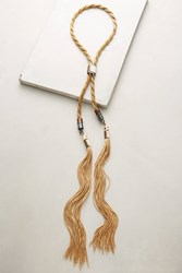 Anthropologie Golden Rope Bolo Necklace