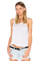 Chaser Scoop Back Flounce Tank White