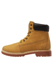 Your Turn Laceup Boots Camel