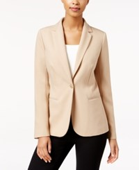 Charter Club Single Button Blazer Only At Macy's Dusted Camel
