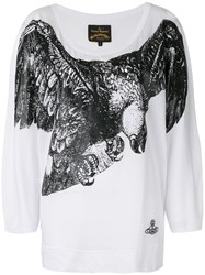 Vivienne Westwood Anglomania Bird Print T Shirt Women Cotton S White