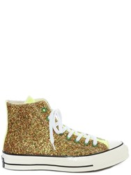 J.W.Anderson Jw Anderson Gold And Silver Glitter Chuck Taylor Converse