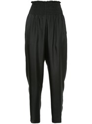 Astraet High Waist Fitted Trousers Black