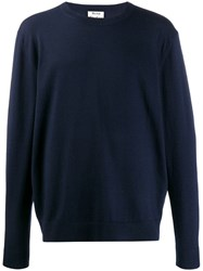 Acne Studios Relaxed Fit Crewneck Jumper Blue