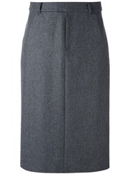 A.P.C. Straight Midi Skirt Grey