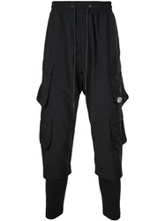 D.Gnak Layered Cargo Trousers Black