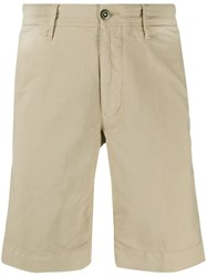 Incotex Front Logo Patch Crease Effect Shorts 60