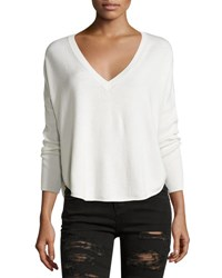 Alice Olivia Bobbie V Neck Round Hem Sweater Neutral Neutral Pattern