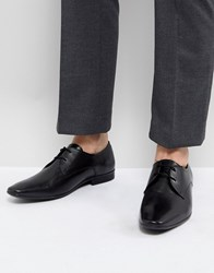 Pier One Leather Derby Shoes In Black Black