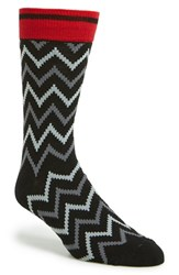 Men's The Rail Zigzag Pattern Socks 3 For 25