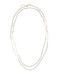 Emily And Ashley Long Beaded Necklace Grey