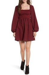 The Fifth Label Campus Smocked Dress Berry Black