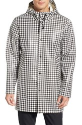 Men's Stutterheim 'Stockholm Dogtooth' Waterproof Hooded Raincoat