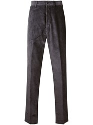 Paura Loose Fit Corduroy Trousers Grey