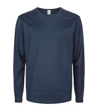 Magic Stick Crew Neck Long Sleeve Top Male Navy