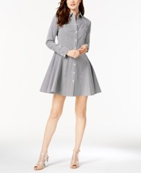 Inc International Concepts Long Sleeve Pinstripe Shirtdress Created For Macy's Black