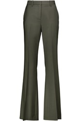 Theory Jotsna Wool Blend Bootcut Pants Dark Gray