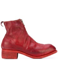 Guidi Zip Front Boots Women Horse Leather Leather 35 Red