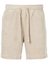Venroy Terry Towel Shorts Nude And Neutrals