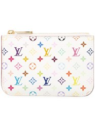 Louis Vuitton Vintage Pochette Cles Nm Coin Case White