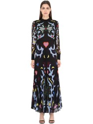 Mary Katrantzou Leopard And Butterfly Georgette Dress
