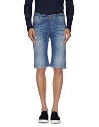 Fifty Four Denim Denim Bermudas Men Blue