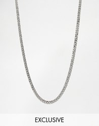 Reclaimed Vintage Silver Curb Chain Necklace 7Mm Silver