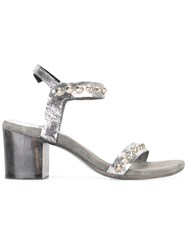 Calleen Cordero Studded Heel Sandals Metallic