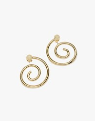 Young Frankk Spiral Earrings In Gold Gold Plated