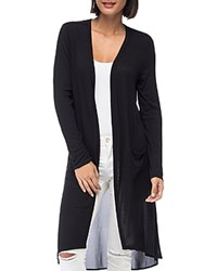 B Collection By Bobeau Addison Sheer Knit Duster Cardigan Black
