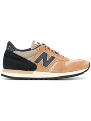 New Balance Panelled Lace Up Sneakers Brown