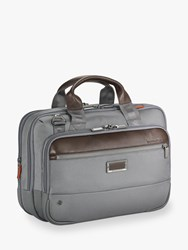 Briggs And Riley Atwork Small Expandable Brief Grey