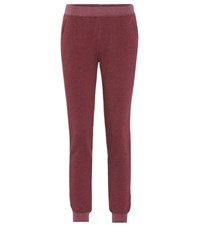 Atm Anthony Thomas Melillo Cotton Blend Track Pants Red