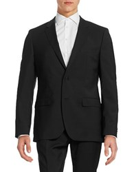 Hugo Virgin Wool Suit Jacket Black