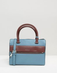 Modalu Leather Mini Tote Bag Airforce Blue