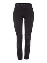 Replay Ripped Denim Trousers Black