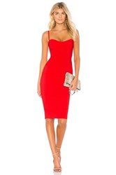 Nookie Allure Midi Dress Red