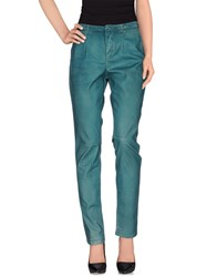 Manila Grace Denim Trousers Casual Trousers Women Deep Jade