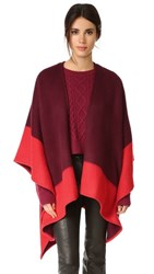 Rag And Bone Double Faced Wrap Scarf Berry
