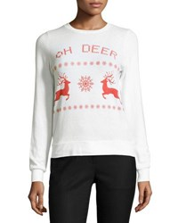 Signorelli Oh Deer Graphic Sweater White