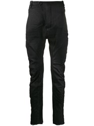 Masnada Ruched Fitted Trousers Black