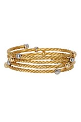 Alor 18K Yellow Gold Gray And Yellow Stainless Steel Cable Bracelet