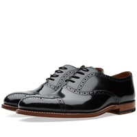 Grenson Matthew Toe Cap Oxford Black High Shine